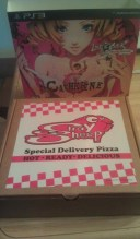 The pizza box which contains all the other goodies and the game itself. Love is Over Catherine Atlus PS3.