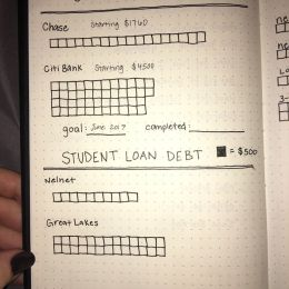 Dave Ramsey Debt Snowball I Made An Updated Bullet Journal Spread 2 More Credit Cards