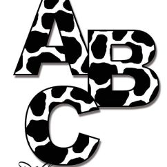Shop World Kitchen Coupons L Shaped Bench Table Cow Letters Decal Farm Animal Nursery Wall Art ...