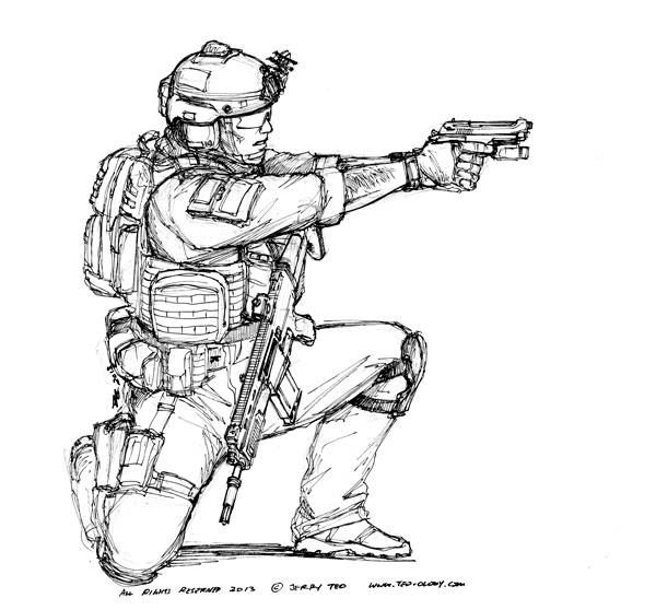 Military Squad Fire Plan Coloring Pages Sketch Coloring Page