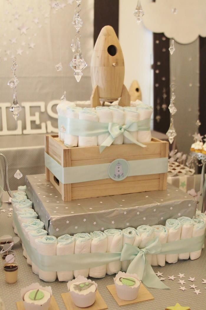 Space Themed Baby Shower with Lots of Great Ideas via Kara