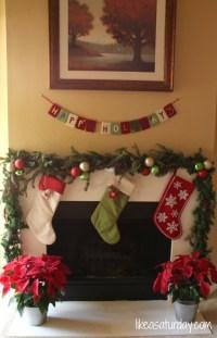 Christmas garland around the fireplace | Dekoracija doma ...