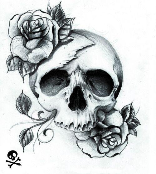 pretty skull tattoos women