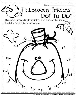 17 Best ideas about Halloween Worksheets on Pinterest