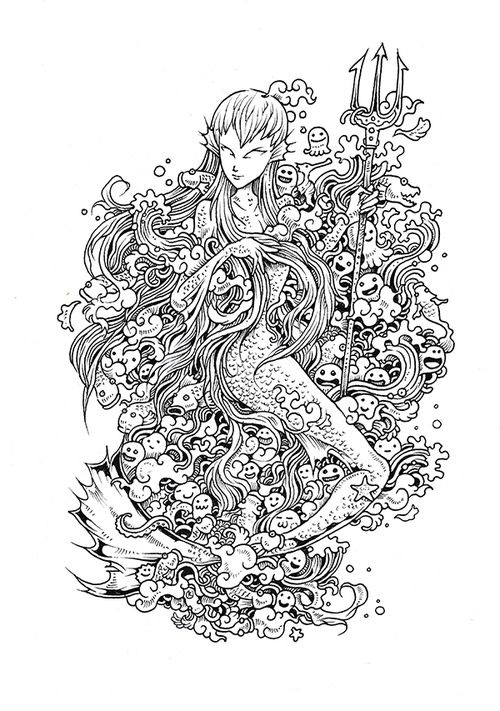 Doodle Invasion Coloring Book Doodle Invasion Coloring