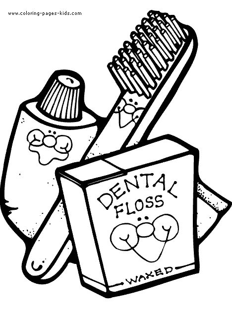 1000+ images about Kid's Dental Coloring Pages