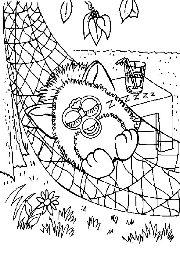 1000+ images about Furbies Coloring Pages on Pinterest