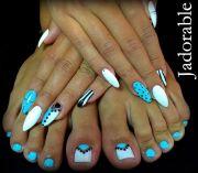 aqua nails ideas