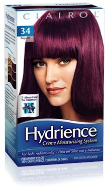 Dark Burgundy Hair Color Box