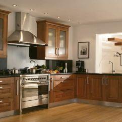 Walnut Cabinets Kitchen Led Lights For Wood