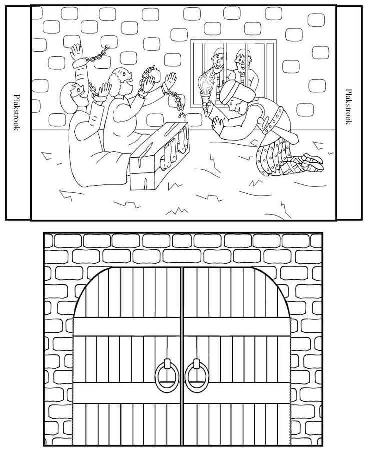 Paul And Silas In Prison Coloring Page Coloring Pages