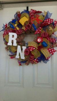 17 Best ideas about Nurse Wreath on Pinterest   Nursing ...