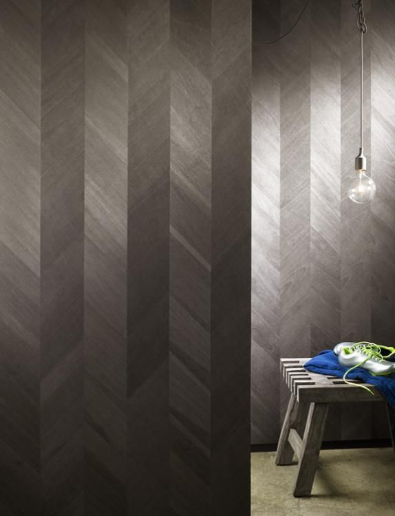Maya Romanoff  Ajiro Chevron Wood Veneer wallcoverings  Wallpaper  Pinterest  Wood veneer