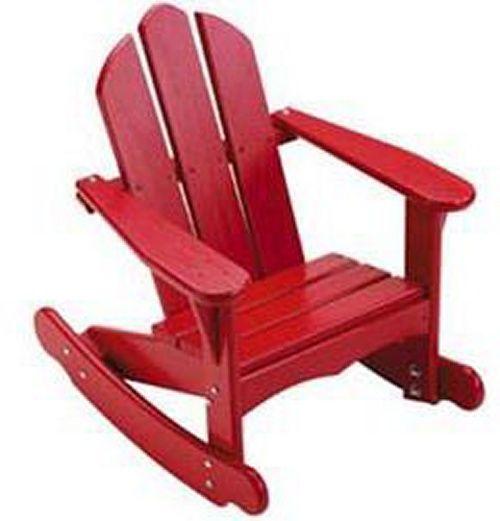 Childs Adirondack Rocking Chair Plans  WoodWorking