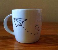 Paper Airplane - Sharpie Mug Idea | Crafts and such ...