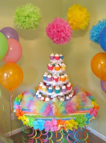 Whoa My Little Girls Would Love This Rainbow Party Theme