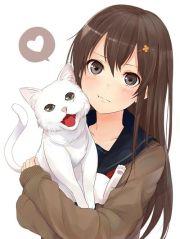 anime girl brown hair