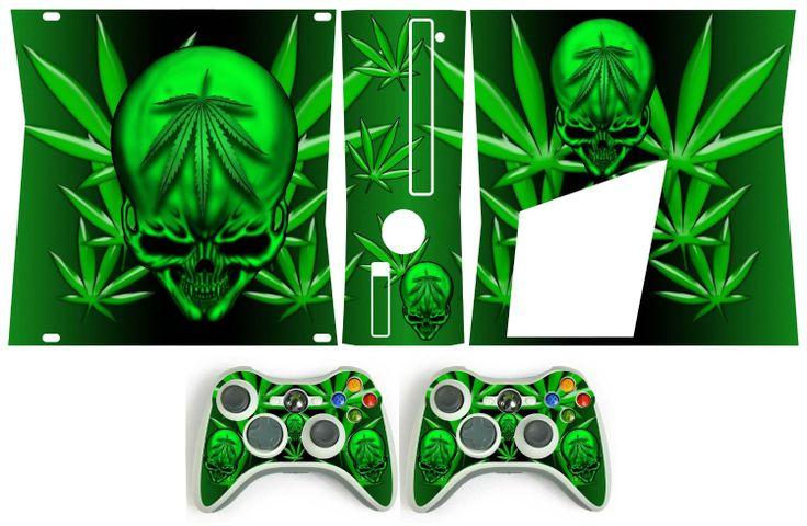 Xbox 360 Slim Skin Weed 420 Httpwwwamazoncomgp