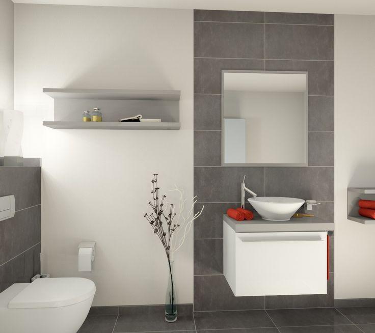 bad fliesen grau weiß  graue und weiße badezimmer ideen