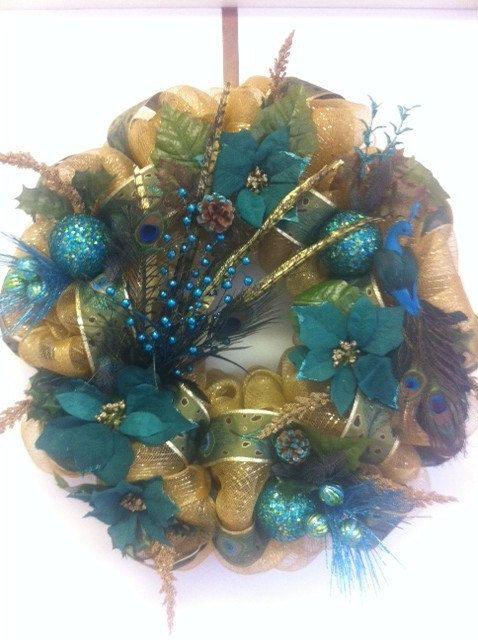 1000 Ideas About Peacock Wreath On Pinterest Wreaths
