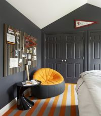 Suzanne Lovell - boy's rooms - vaulted ceiling, charcoal ...
