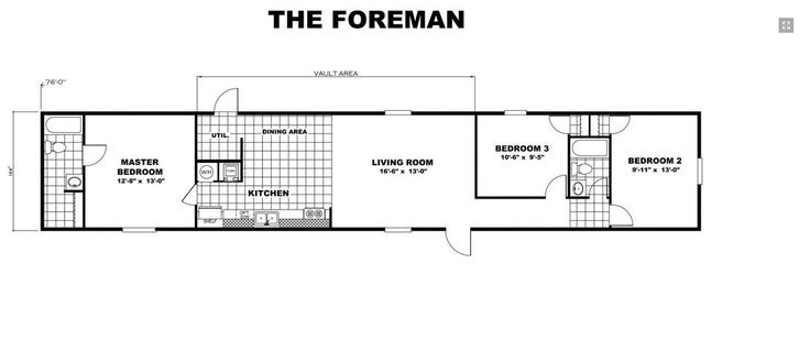 Diy Deck Drawer Floor Plan Of Tru Foreman Mobile Home | Tru Foreman 14 X