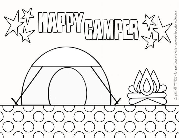 free printable: Camping Coloring Page by Petite Party