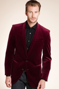 Autograph Pure Cotton Shawl Collar Velvet Jacket - Marks ...