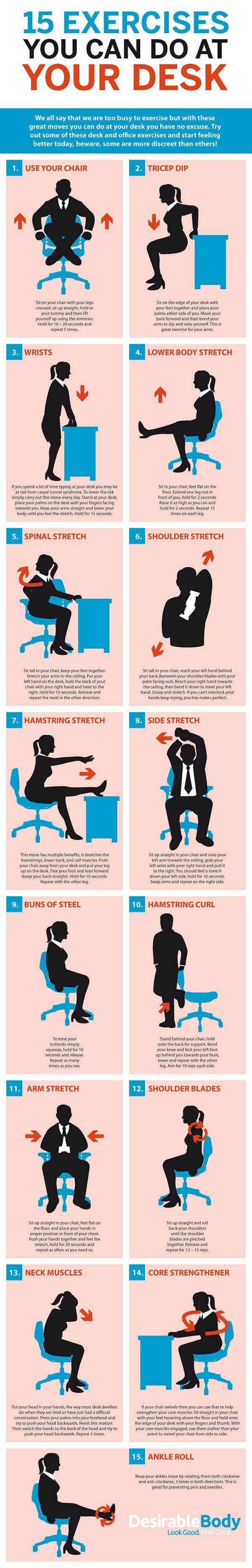 25 best ideas about Desk Exercises on Pinterest  Office