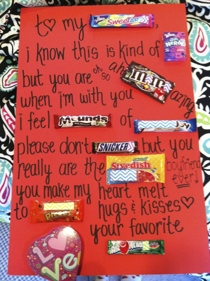Valentine's Candy Message Card Total Cost 11