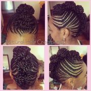 #cornrows #mohawk #updo #naturalhair