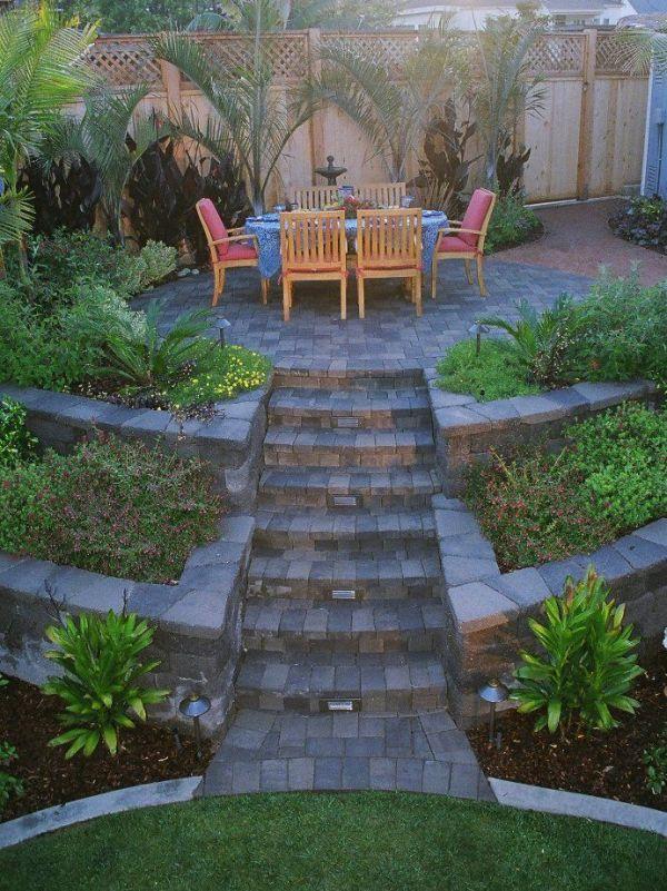 tiered yard patio