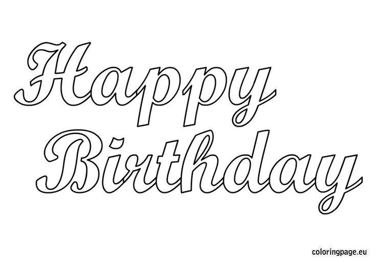 58 besten Happy Birthday coloring Pages Bilder auf Pinterest