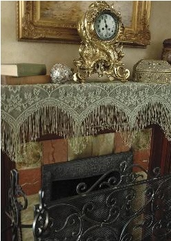 Top 25 ideas about Mantle Scarves on Pinterest  Runners Bats and Halloween mantel