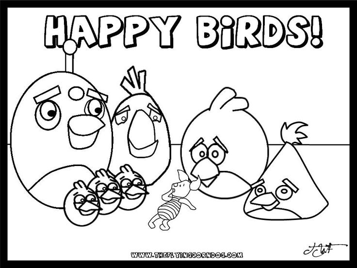 angry birds birdday party printable coloring pages