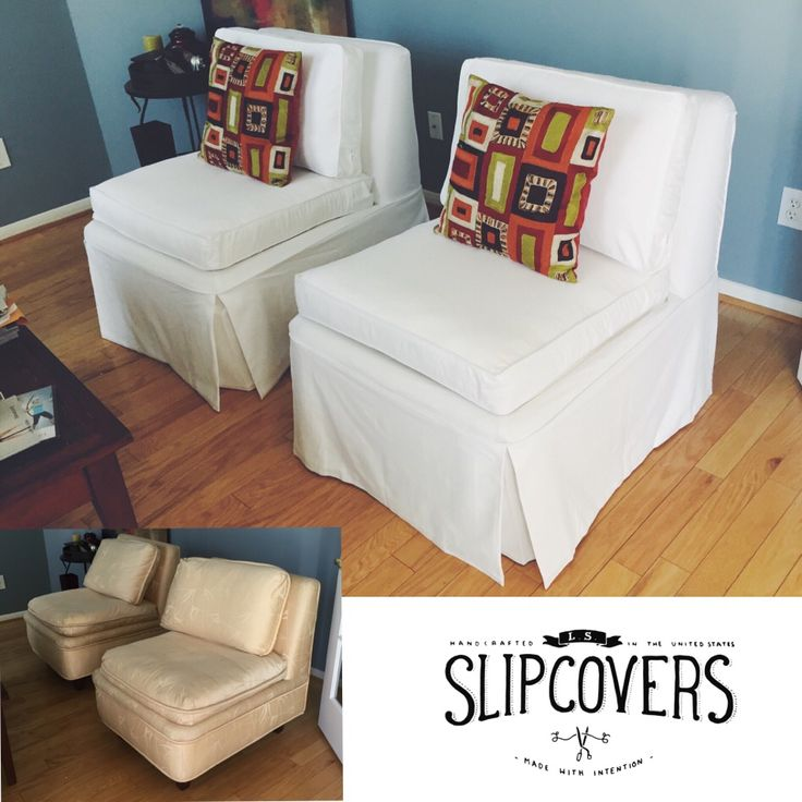 slipcovers for living room chair stickley brothers makeover, slipper chairs and french vanilla on pinterest