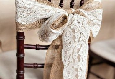 Ideas About Wedding Chair Bows On Pinterest Chair