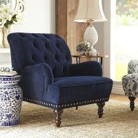 Navy Blue Velvet Armchair | Velvet, Armchairs and Pier 1 ...