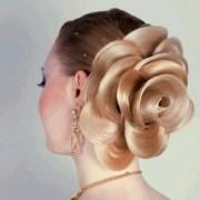 rose updo hair