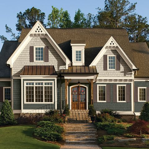 Two Tone Blue Exterior House Colors Google Search