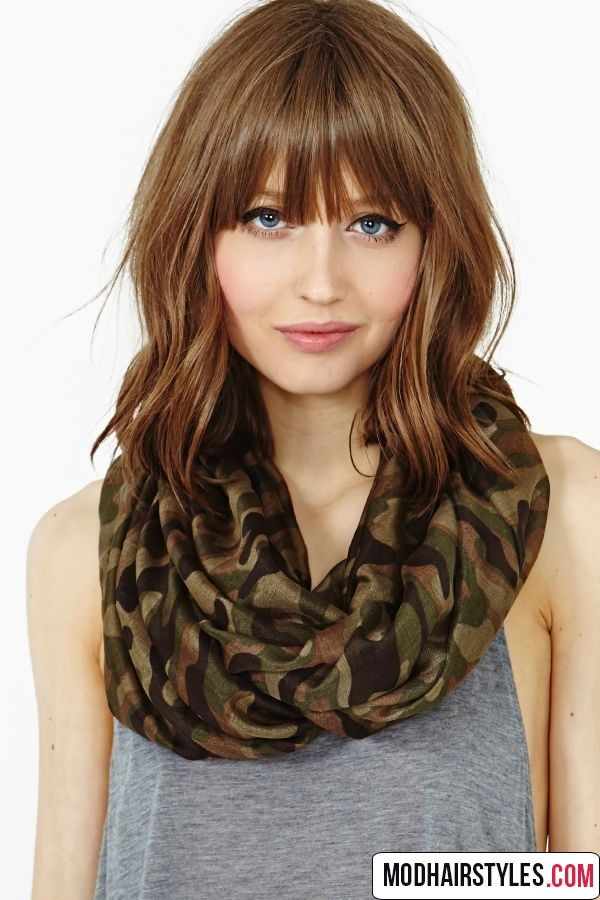 25 Best Ideas About Medium Hairstyles With Bangs On Pinterest