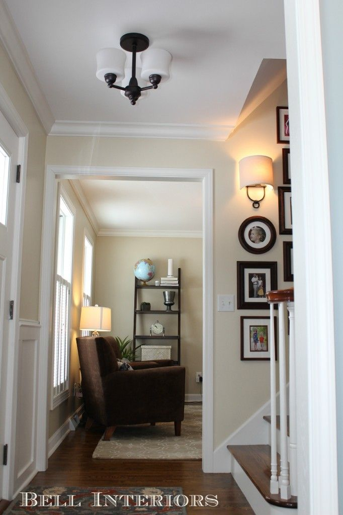 how to arrange living room with tv above fireplace interior paint ideas elephant tusk - ben moore -client's entry and office make ...