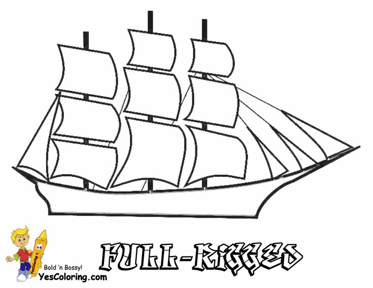 17 Best images about Free Sharp Ships Boats Coloring Pages