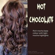 hot chocolate rich mocha base colour
