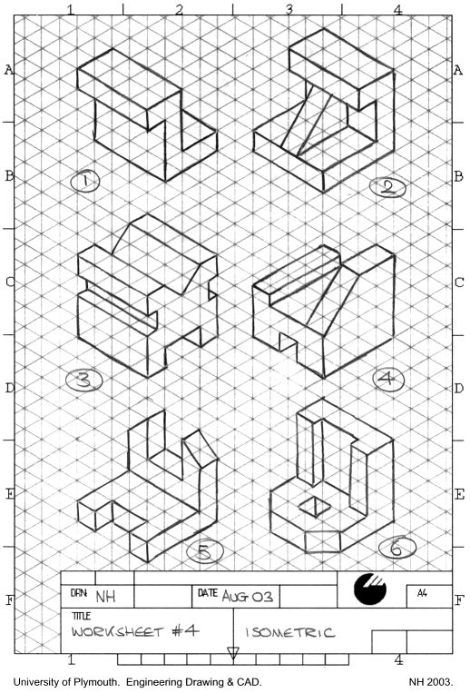 17+ best ideas about Isometric Drawing Exercises on
