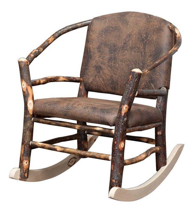Amish Rustic Hickory Twig Hoop Rocking Chair  Rocking