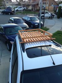 Built this wood roof rack for 50 bucks! | Wooden roof rack ...