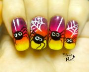 halloween cute spiders easy freehand