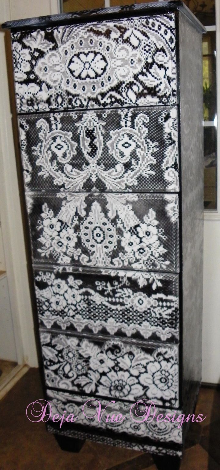 Faced With Lace Beautiful Cabinets And Doilies