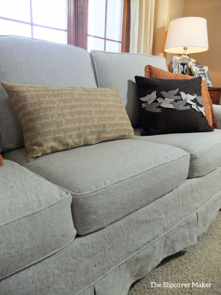 linen slipcover sofas sofa slipcovers with separate cushions for grey line company - home ...